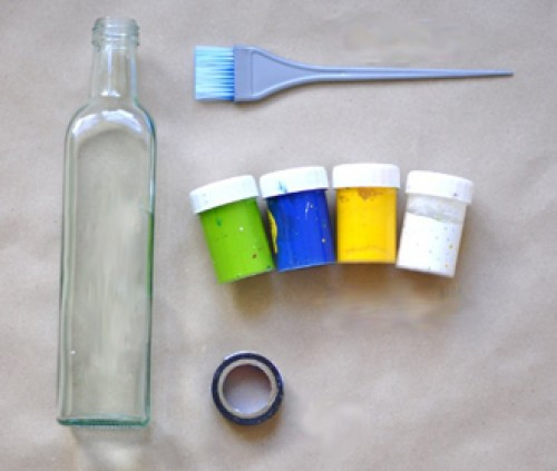 DIY Beautiful Vase from Glass Bottle 1