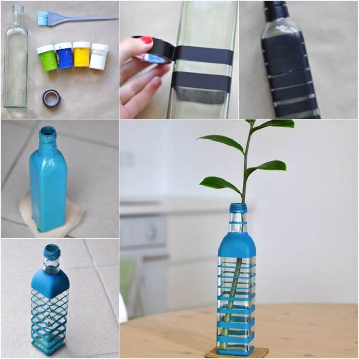 Diy Beautiful Vase From Glass Bottle Good Home Diy