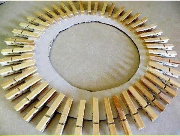 DIY Clothespin Picture Frame 4