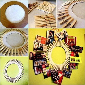 DIY Clothespin Wreath Picture Frame