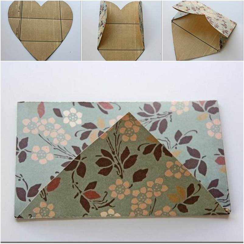 DIY Easy Envelope from Heart Shaped Paper