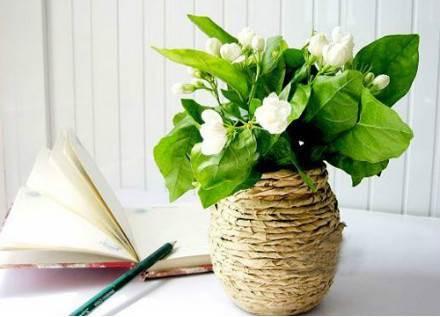 DIY Kraft Paper Decorated Flower Vase 6