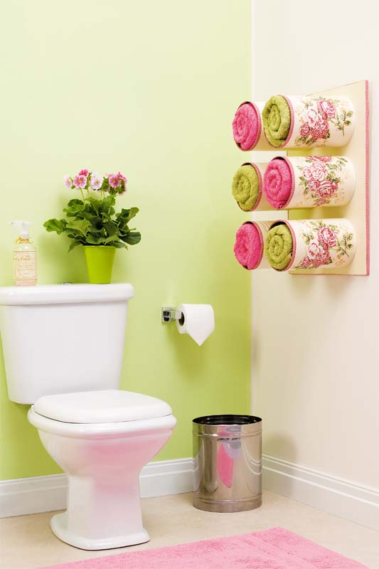 DIY Pretty Towel Storage Boxes from Tin Cans 9