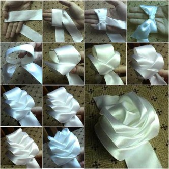 DIY Satin Ribbon Rose without Needle and Thread