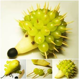 DIY Adorable Fruit Hedgehog