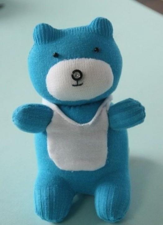 DIY Adorable Sock Teddy Bear 10