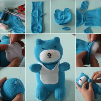 DIY Adorable Sock Teddy Bear
