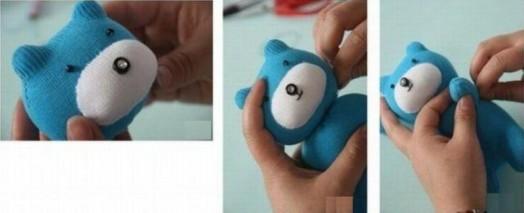DIY Adorable Sock Teddy Bear 9