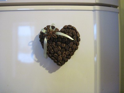 DIY Coffee Bean Fridge Magnet 8