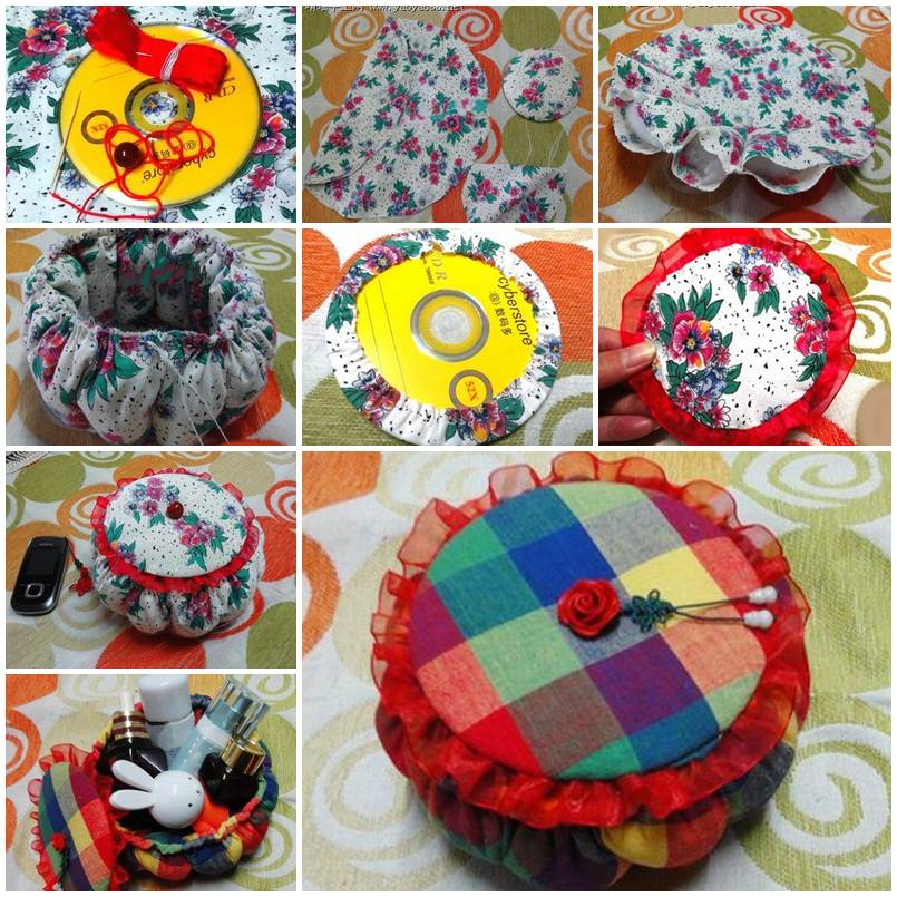 Diy cute little storage basket with old cds good home diy for West out of best project