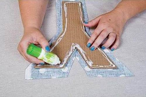 DIY Easy Cardboard Letter Wall Decals 4