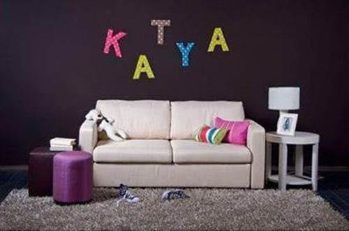 DIY Easy Cardboard Letter Wall Decals 7