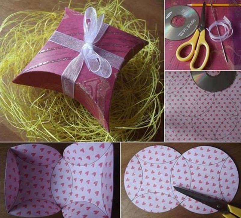 Diy easy gift box using a cd - How to make beautiful gift box ...