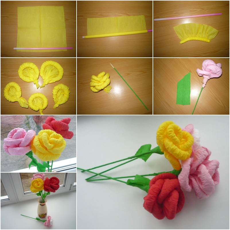 How to make paper flower bouquet at home samannetonic how to make paper flower bouquet at home diy easy napkin paper flowers mightylinksfo