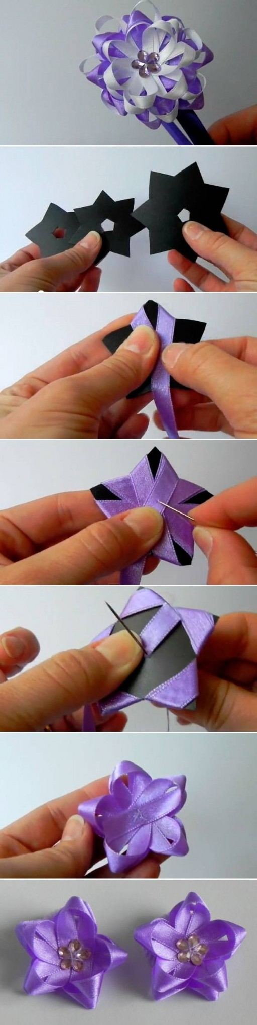 Diy Easy Satin Ribbon Flower Bow Good Home Diy