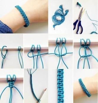 DIY Macrame Bracelet from Old Earphones