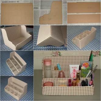 DIY Nice Cardboard Desktop Organizer