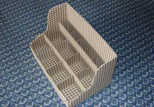 DIY Nice Cardboard Desktop Organizer 9