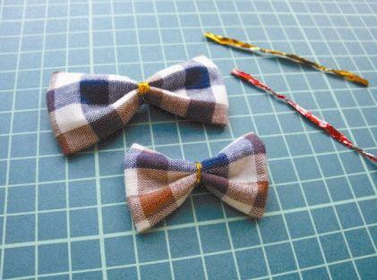 DIY Pretty Plaid Bow Hair Clip 6