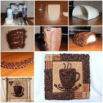 DIY 3D Coffee Cup Wall Decor