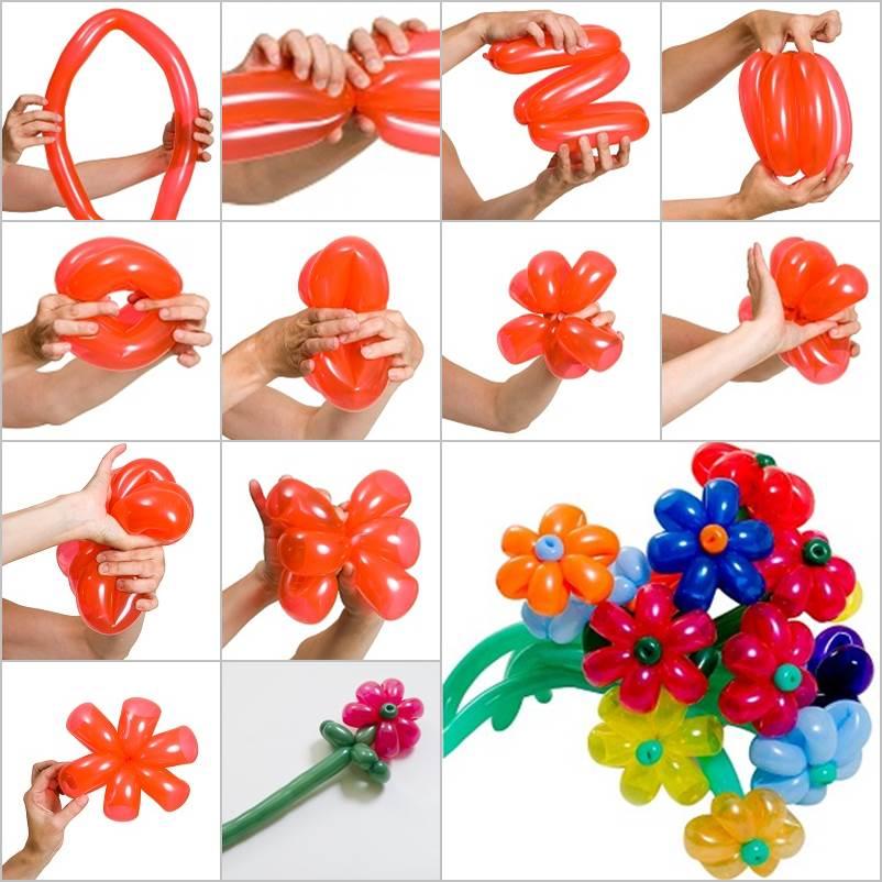 Букеты из шариков своими руками пошаговое фото