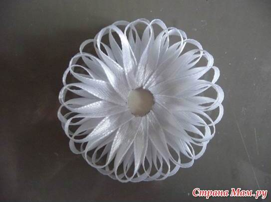 DIY Beautiful Narrow Satin Ribbon Flower 4