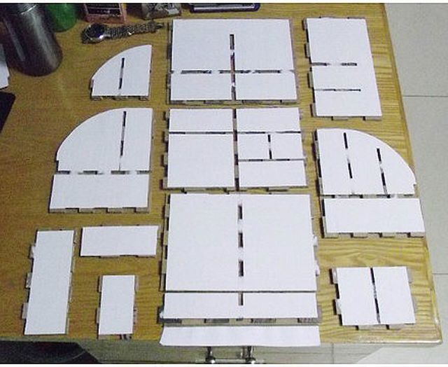 Diy cardboard desktop organizer with drawers good home diy for How to make a dresser out of cardboard