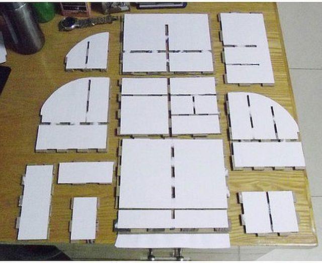 DIY Cardboard Desktop Organizer with Drawers 4