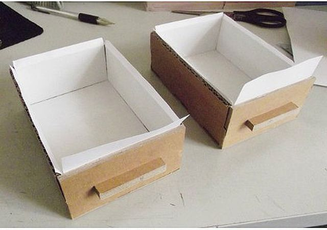 DIY Cardboard Desktop Organizer With Drawers Good Home