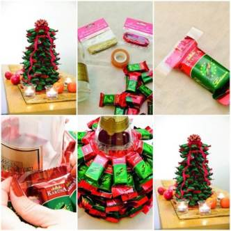 DIY Chocolate Bar Christmas Tree