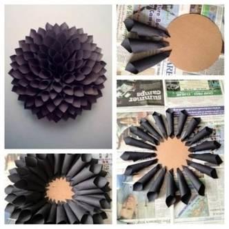 DIY Easy Paper Dahlia