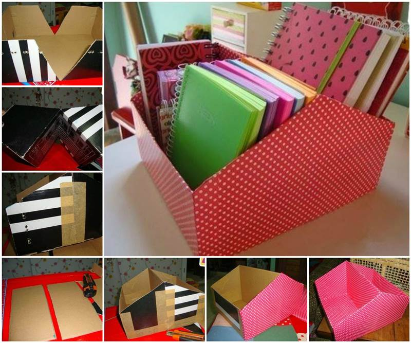 DIY Easy Shoe Box Organizer