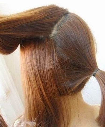 DIY Easy Twisted Side Ponytail Hairstyle 3