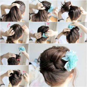 DIY Easy Updo Hairstyle with a Chopstick