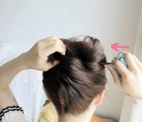 DIY Easy Updo Hairstyle with a Chopstick 8