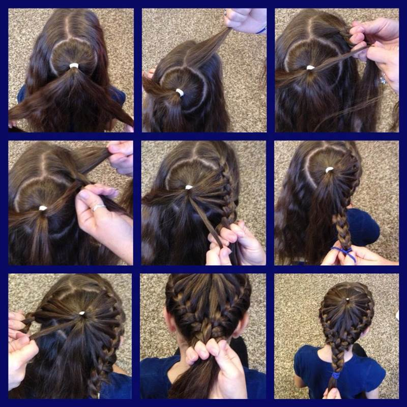 DIY Heart Shaped Crown Braided Hairstyle