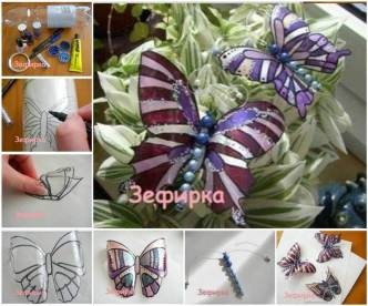 DIY Pretty Butterflies from Plastic Bottles