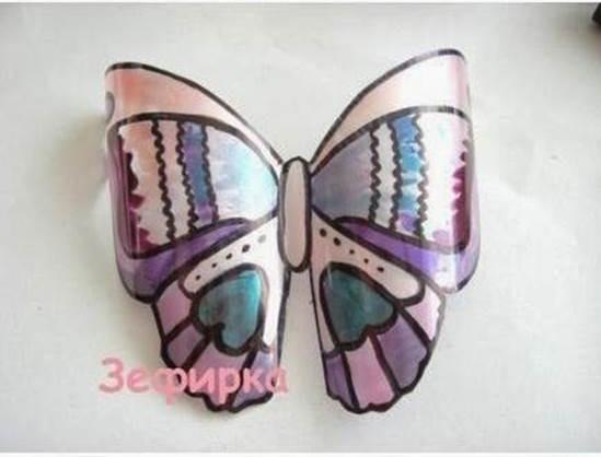 DIY Pretty Butterflies from Plastic Bottles 5