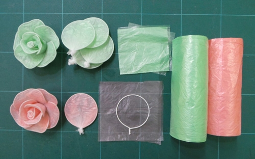 Поделки из пакетов для мусора своими руками фото