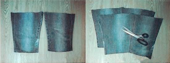 DIY Stylish Handbag from Old Jeans 31