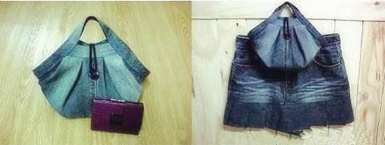 DIY Stylish Handbag from Old Jeans 36