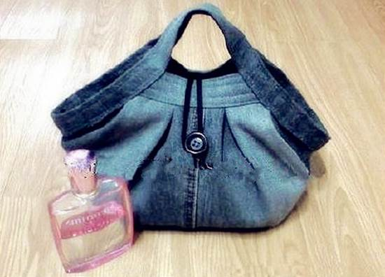 DIY Stylish Handbag from Old Jeans 37