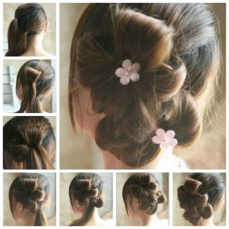 DIY Chic Flower Petal Updo Hairstyle