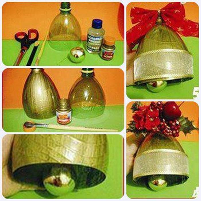 Decorating Ideas > DIY Christmas Bell Ornament From Plastic Bottle  ~ 195317_Christmas Decoration Ideas Made Of Plastic Bottles