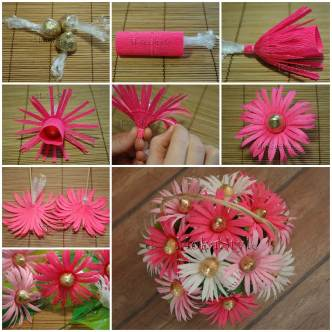 DIY Crepe Paper Chocolate Gerbera Flower Bouquet