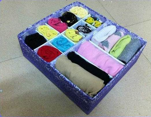 DIY Easy Cardboard Drawer Divider Storage Box 6