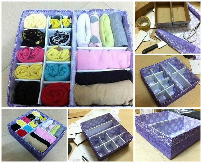 DIY Easy Cardboard Drawer Divider Storage Box