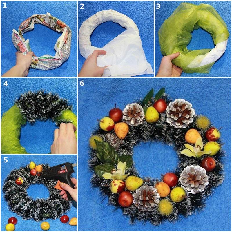 Diy easy christmas wreath - Comment faire une couronne de noel ...