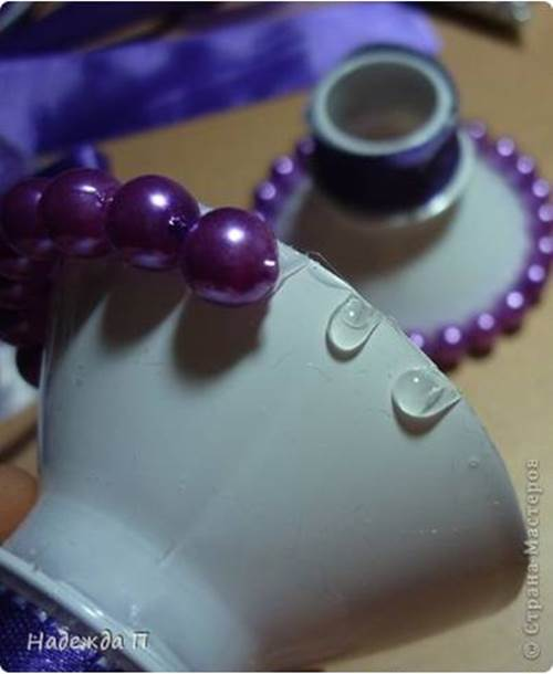 DIY Pretty Candle Holder from Recycled Plastic Bottle 3