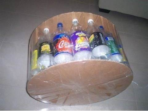 DIY Simple Ottoman from Recycled Plastic Bottles 2
